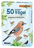 Moses 9715 Expedition Natur - 50 heimische Vögel | Bestimmungskarten im Set | Mit spannenden Quizfragen