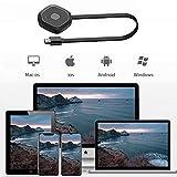Ruiqas Drahtloser HDMI-Display-Dongle Bildschirmspiegelung Casting-Display-Adapter WLAN-Display Empfänger Display-Anschluss Unterstützung Miracast/ DLNA/ Airplay für