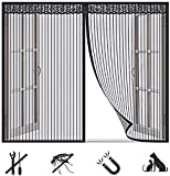 Domiss Fliegengitter Fenster 140x150cm, Moskitonetz Tuer Magnet, Luft kann frei strömen für Balkontür und Terrasentü