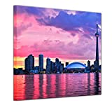 Bilderdepot24 Bild auf Leinwand   Skyline von Toronto in 40x40 cm als Wandbild   Wand-deko Dekoration Wohnung modern Bilder   15144B