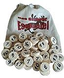 Prescher Das Stuhrer Eselspiel XS in der Weihnachtsedition mit 61 Spielsteine für 2 - 4 Spieler mit 3 Stapeln, Familienspiel,Reisesp