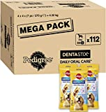 Pedigree DentaStix Daily Oral Care Zahnpflegesnack für große Hunde – Hundeleckerli mit Huhn- & Rindgeschmack für jeden Tag – 1 x 112 Stück