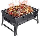 SISHUINIANHUA Faltbare beweglicher Barbecue Grill Terrasse Grill Holzkohlegrill Herd Aussen Camping Picknick Heim Barbecue Grill Zubehö