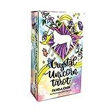 ACCLD Crystal Unicorn Tarot Cards Anleitung -Divination Schicksal Oracle Tarot Deck Brettspiel