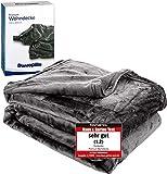 Dunlopillo Premium Wohndecke 150x200cm - Kuscheldecke Platingrau - extra weiche TV- Decke seidig glänzend - Made in Germany