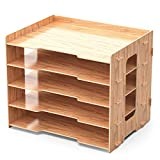 Lesfit Briefablage Dokumentenablage Holz, Aablage Schreibtisch Organizer (33,2 x 24,8 x 27cm)