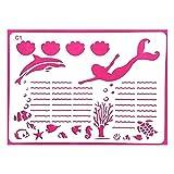 XIGAWAY 8 Stück Bürobedarf DIY Zeichenschablonen für Tagebuch Tagebuch Tagebuch Schablonen Kunststoff Cr