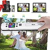 LTXDJ Tragbarer WiFi-Scanner, WiFi-Fotoscanner 300/600/1050 DPI-Dokumentenscanner mit 32G SD-Karte Handheld-A4-Farbseite für Telefon-Computer-Fotodokument-Empfangsbild