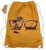 Ma2ca® - Sonnenbrille Sun Strand Beach Gymsac Turnbeutel - Stoffbeutel Tasche Hipster Sportbeutel Rucksack Bedruckt