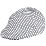 Belsen Kinder Gatsby Streifen Mütze Baskenmütze Baby Kids Kapppe Hüte (schwarz)