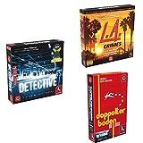 Pegasus Spiele 57505G - Detective (deutsche Ausgabe) + L.A. Crimes + Doppelter B