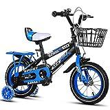 Chenbz Outdoor-Sport Sport Kinder-Fahrrad for Kinder Alter 210 Jahre Alten Kinder, 12 14 16 18 Zoll Mountainbike Edition for Jungen und Mädchen (Color : Blue, Size : 12 Inch)