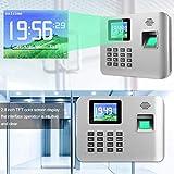 Stechuhr 100-240V Zeiterfassungsmaschine Fingerabdruck-Zeiterfassung für Unternehmen für Stechuhr(European standard (100-240v))