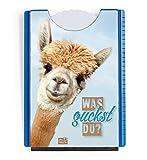 Der-Karten-Shop.de Fun Spaß Motiv Parkscheibe mit Eiskratzer und Gummilippe witziges Alpaka, was guckst Du?