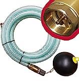 Brunnenandi Saugschlauch 1' versch. Längen_-=-_ für Elektropumpen Hauswasserwerk, Hauswasserautomat fördern aus Brunnen o. Regentonne geeignet_-=-_ Saugschläuche + Schwimmerventil -=- (**z.B. 4m**)