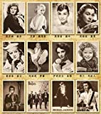 32 Blatt/Lot Mix 32 Designs Vintage Movie Stars Rock Stars Postkarten/Postkarten/Grußkarten