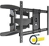 Invision TV Wandhalterung für 37-75 Zoll Bildschirme, Schwenkbar Neigbar und Ausfahren TV Halterung für Flache und Gebogene Fernseher, Max Gewicht 50kg, VESA 200x100mm zu 600x400mm (DXL-DE-IA)