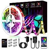 LED Strip, L8star LED Streifen Farbwechsel LED Strip Lichtband RGB Flexible LED Bänder Strips mit Bluetooth Kontroller Sync zur Musik, Anwendung für Schlafzimmer, Party und Feriendek