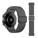 leiai 22mm Nylon Armband für Galaxy Watch 3 45mm,Ersatzband Verstellbares Silikonband,Uhrenarmband Armbänder Strap für Samsung Galaxy Watch 46mm/Gear S3 Classic/S3 Frontier/Ticwatch S2 (grau)