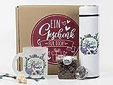 """Muttertags-Geschenk Geschenkbox, Thermoskanne mit Siebeinsatz, Tee-Mischung und einzigartige """"Beste Mama"""" Tasse"""