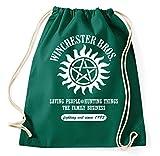 Styletex23 Winchester Bros Brothers Hunting Turnbeutel Sportbeutel, flaschengrün