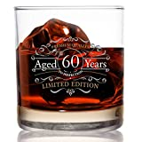 """Whiskyglas mit Aufschrift """"1959"""", Vintage-Edition (60. Jahrestag), 325 ml, altmodische Whiskey-Gläser für 60 Jahre altes Glas"""