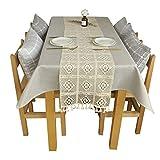 Befitery Tischläufer 24 * 180cm Beige Tischläufer Tischband Skandinavische Deko mit Quasten als Tischsets, Platzsets, Tischdecken