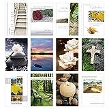 Edition Seidel Set 12 einfühlsame Trauerkarten / Beileidskarten mit Umschlag. Trauerkarte Beileidskarte mit Spruch schreiben (Doppelkarten/Klappkarten mit Briefumschlag