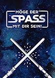 GRAFIK WERKSTATT Das Original Glückwunschkarte Geburtstag, Musikkarte mit Sound, Song 'Star Wars Theme'