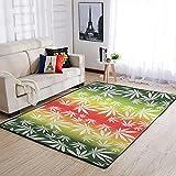 Mentmate Store Marihuana Teppich Luxuriös Lustig Waschbar - Bunten Schlafzimmerdecke for Innenbereich White 50x80cm