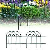 Cikonielf 5 Stück Deko-Zaun Gartenzaun Beetumrandung aus Metall Zaunpaneele 447 x 47