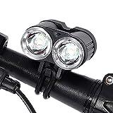 Q-HL LED Fahrradlicht Fahrradbeleuchtung Fahrradlampe Fahrradfront-Lampe 2000lm LED-Fahrrad-Licht-Scheinwerfer-Taschenlampe Wiederaufladbare Scheinwerfer-Passform Für Gebirgsstraße Kinder-Bikes