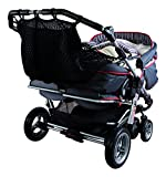 Sunnybaby 850120519 Kinderwagen-Einkaufsnetz für Zwillingswagen mit Sichtschutz, schw