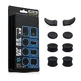 CHIN FAI PS4 Joystick Kappen, L2 R2 Ersatz-Tasten Trigger Grips Extender, 3 Paar Anti-Rutsch-Joysticks Thumbstick Caps Tasche für Playstation 4 PS4 JDM-030 Controller, Schwarz