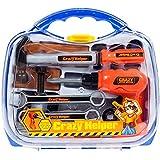 MalPlay Werkzeugkoffer Spielwerkzeug | Werkzeugkasten Kinder | Mit Schraubendreher und -schlüssel Bohrmaschine | für Kleinkinder ab 3 Jahren