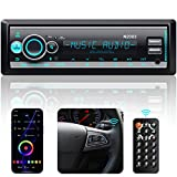 Autoradio mit Bluetooth Freisprecheinrichtung Bass Sound, CENXINY Autoradio Bluetooth Version 5.0 Farbeneinstellung mit Unbegrenzter Dimmer in APP, Autoradio mit 2 USB/AUX