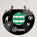 Gravinci Schallplatten-Wanduhr Bremen Fan
