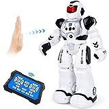Auney Roboter Spielzeug für Kinder, intelligente programmierbare Fernbedienung Roboter, intelligentes Spielzeug für Jungen mit Infrarotsensor-RC-Roboter (Schwarz)