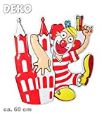 KarnevalsTeufel Clown mit Kölner Dom Höhe ca. 60 cm Köln Dekoration Kölnmotiv Alaaf