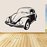 wopiaol Vw Käfer Vinyl Wandtattoo Retro-Stil Abnehmbare Wohnkultur Wohnzimmer Kunst Wandtattoos Fahrzeug Aufkleber Perfekte Qualität