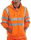 B Seen Hooded Sweatshirt Hi-Vis Orange - XL