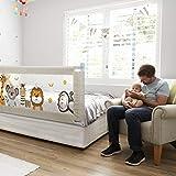 Fascol Bettgitter, 200cm Kinderbettgitter Babybettgitter zum Vertikalen Heben, Bettschutzgitter für Kinderbetten und Elternbetten, 1 Seite