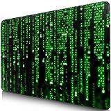 Sidorenko Gaming Mauspad - Mousepad 280 x 200 mm - Fransenfreie Ränder- spezielle Oberfläche verbessert Geschwindigkeit und Präzision - rutschfest - grün