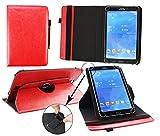 emartbuy® XIDO Z90 9.6 Zoll Tablet PC Universal (9-10 Zoll) Rot PU Leder 360GradrotierendeStandFolioGeldbörseTascheHülle + Schwarz Eingabestift