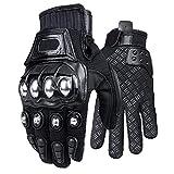 Yililay Motorrad-Handschuhe Breathable Touch Screen Motorrad-Handschuhe voller Finger Textile Sicherheit Handschuhe für das Radfahren Klettern Schwarz M 1 Paar Zuverlässige Qualität