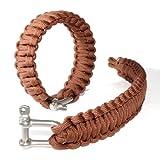 Ganzoo Paracord 550 Armband + Metall-Verschluss Set, Survival & Outdoor, Nylon-Seil