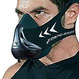 FDBRO Trainingsmaske Workout Maske- - High-Altitude-Endurance-Maske erhöht die Kraft, Laufwiderstand Sportmaske mit Tragetasche (Schwarz, L)