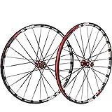 TYXTYX Fahrradrad 26 27,5 Zoll Fahrradradsatz MTB Fräsen Trilaterale doppelwandige Alufelge Carbon Nabe QR Scheibenbremse vorne und hinten 7-11 Geschwindigkeit 24H