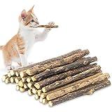 NFGHK Katzenminze Stick, Katzen Spielzeug Zahnpflege Katzen Sticks Katzen Matatabi für Die Natürliche Katzen Zahnpflege, 24 Stück Matatabi Katzen Kauhölzer, Matatabi-Kausticks