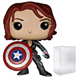 Marvel: Avengers 2 Age of Ultron – Black Widow mit Captain America's Shield Funko Pop! Vinyl-Figur (inklusive kompatibler Popbox-Schutzhülle)